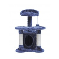 67CM Three Level Cat Tree House With Nest Blue