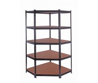 Rivet 5 Layer Corner Shelving with MDF Board 1830(H) x 900(W) x 450(D) mm