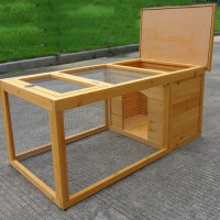 Weatherproof Rabbit Hutch With Run
