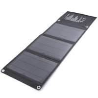15W Outdoor Folding Portable Solar USB Charging Panel