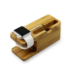 2 in 1 Wooden Creative Stand for Apple Watch iPhone