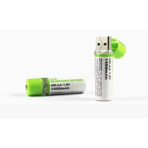 2  USB rechargeable battery NH-AA 1.2V 1450mAh