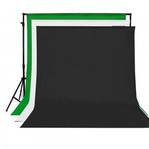 3 Color Photo Studio Backgrounds  with Stand