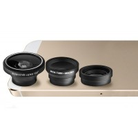 3 in 1 Fish Eye Micro Lens Kit