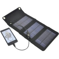 5W Outdoor Folding Portable Solar USB Charging Panel