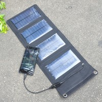 7W Outdoor Folding Portable Solar USB Charging Panel