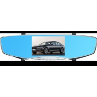 "5"" Dual Lens HD 1080p 170° Wide Angle Rearview Mirror  Car DVR"