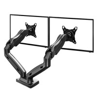 360 Full Motion Dual Monitor Gas Spring Arm Table Mount