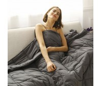 Breathable Weighted Blanket Cotton with Glass Beads 152 x 203cm 9kg