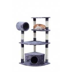 120CM Four Level Cat Tree with Condo Tunnel