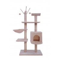 135CM Five Level Cat Tree Beige