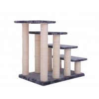60Cm Four Stairs Cat Tree Blue