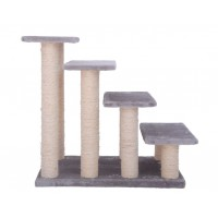 60Cm Four Stairs Cat Tree Gray