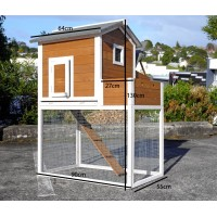 Chicken Coop Rabbit Hutch Hen House Guinea Pig 027
