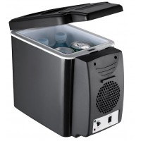 6L Warmer or Cooler Fridge for Car Black