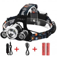 Ultra Bright Camping 3 T6 LED 3000lm Headlight 2 x 18650