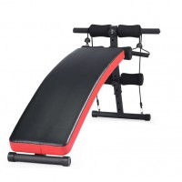 Fitness Decline Bench With Elastic Resistance Band