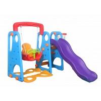 Indoor Outdoor Kid's Slide Swing Set Blue