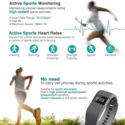 Fitness Activity Heart Rate Tracker Smartband Smart Watch