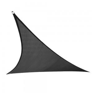 3m x 3m x 3m Triangle All Season Sun Shade Sail Black