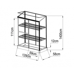 3 Levels Hobby Polycarbonate Greenhouse