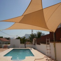 3.6m x 3.6m x 3.6m Triangle All Season Sun Shade Sail Sand