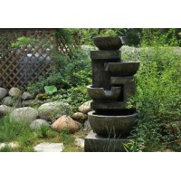 4 Level Bowl Outdoor Water Feature