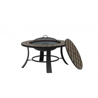 76cm Steel Round Firepit Table