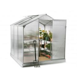 6x6 Garden Aluminum Greenhouse with Sliding Door