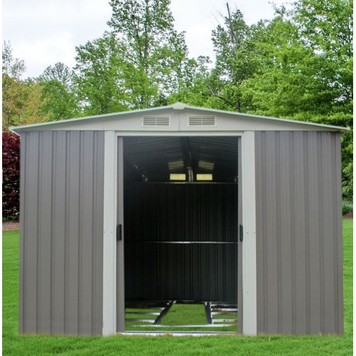 garden shed 2 x 25 x 2m free foundation kitset gray
