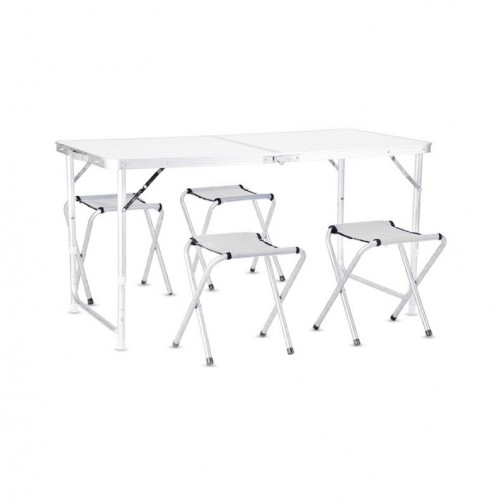 Adjustable Folding Aluminum Alloy Portable Table With Chair