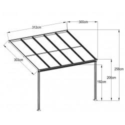 Aluminum Patio Canopy 312(L) X 300(W)