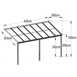 Aluminum Patio Canopy 435(L) X 300(W)