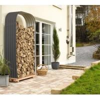 Garden Metal Tools Firewood Storage Shed 103x46x200cm
