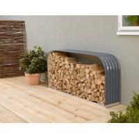 Garden Metal Tools Firewood Storage Shed 212X46X111cm