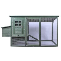 Wooden Chicken Coop XXXL 012s Green