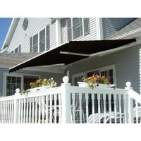 Retractable Folding Arm Awning 1.6X1.2 M Black