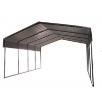 6X6X3.6M METAL Two Cars CARPORTS Black