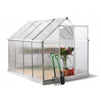 8x6 Garden Nursery Aluminum Greenhouse with Sliding Door
