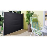 Retractable Side Awning 1.5x3M Black
