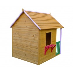 Deluxe Wooden Outdoor Playhouse with Canopy CW-08