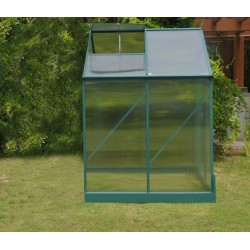 4x6 Ft Aluminum Greenhouse Upgraded Extra Height and Thickness