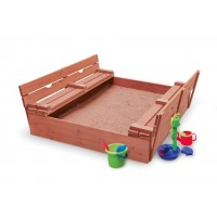 Wooden Sandpit with Bench Seats