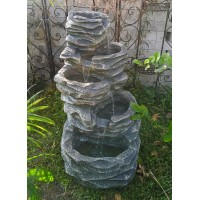 5 Level Shale Bowl Outdoor Water Feature