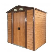 Wood Grain Color Steel Garden Shed 1.5 x 1.9 x 2.0M