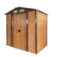 Wood Grain Color Steel Garden Shed 1.9 x 2.3 x 2.0M