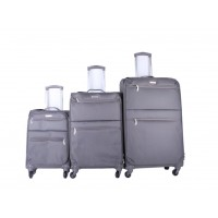 3pc Super Light Trolley Case Wheeled Travel Suitcase Luggage Grey