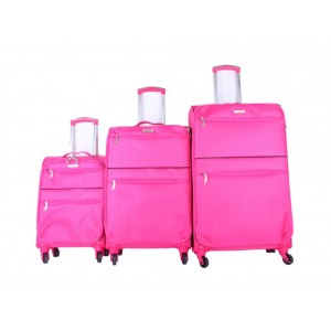 3pc Super Light Trolley Case Wheeled Travel Suitcase Luggage Pink