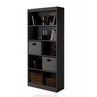 5 Tier Book Magazine CD Shelf  Black