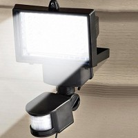 60-LED Solar-Powered Motion Sensor Light